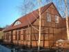Dacheindeckung mit Fledermausgaube in Letschin (Heimatstube)